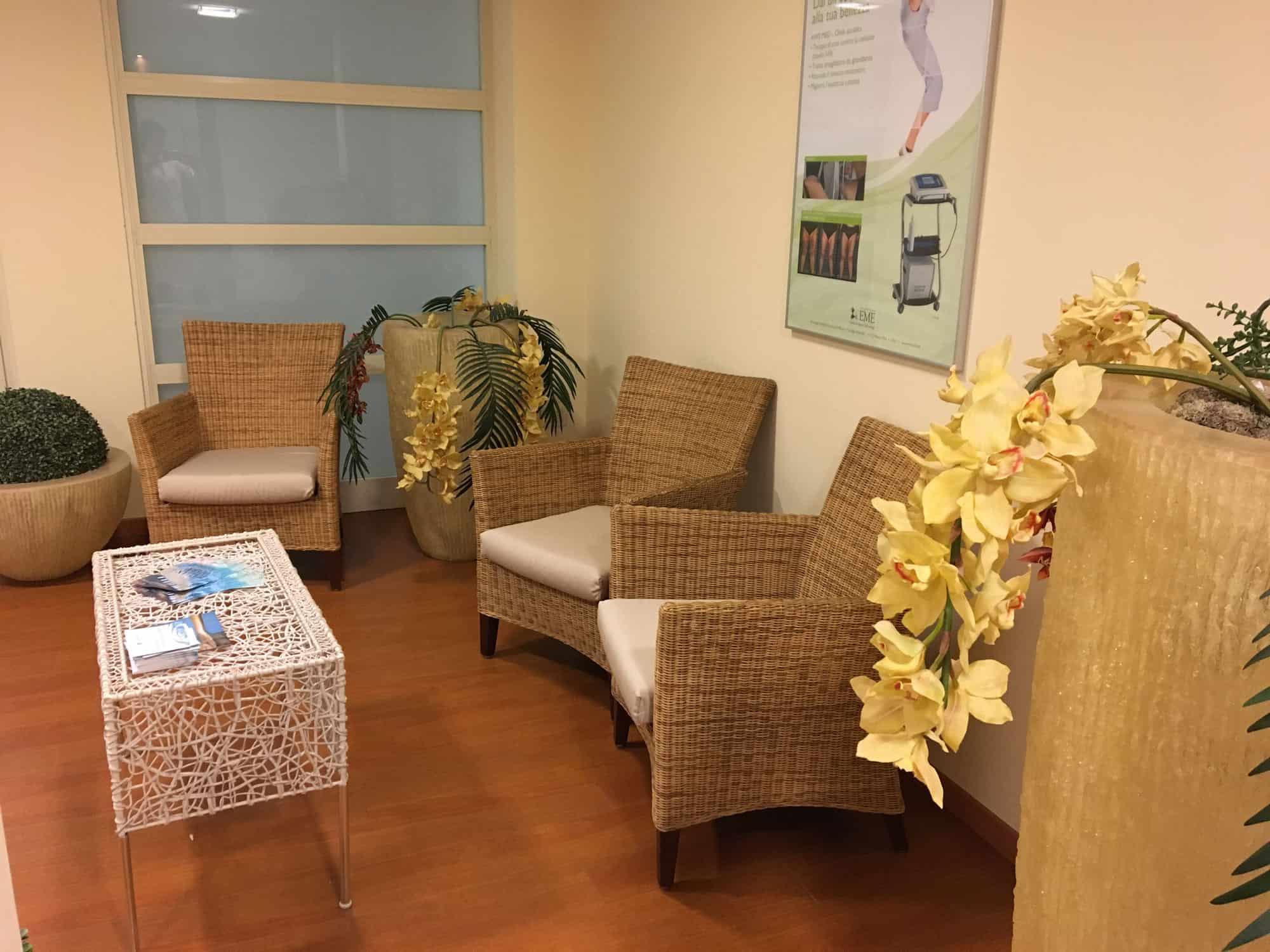 sala d'aspetto Rimini Terme